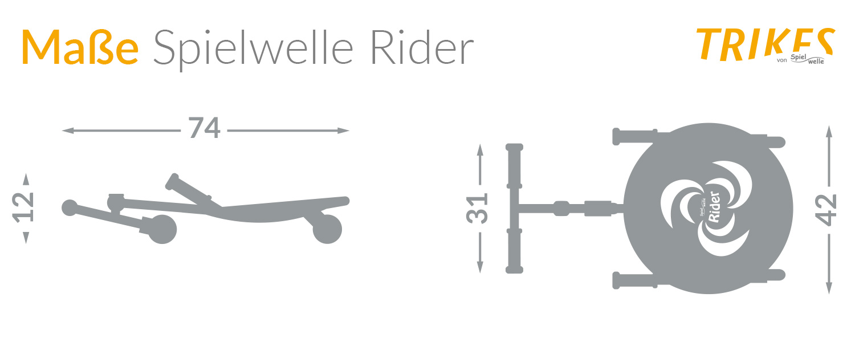 Maße Spielwelle Rider