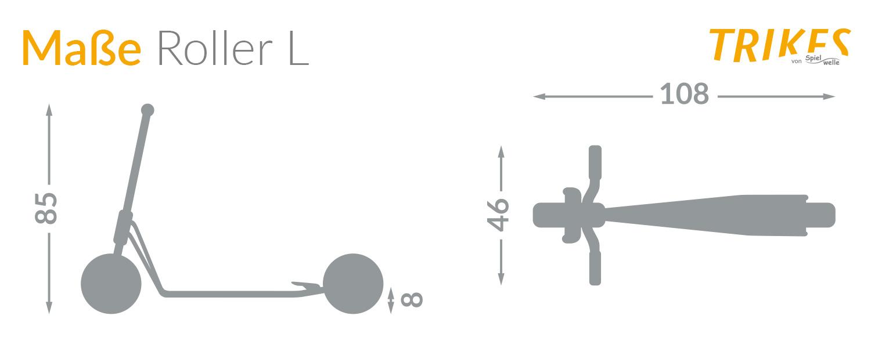 Maße des Spielwelle Roller L