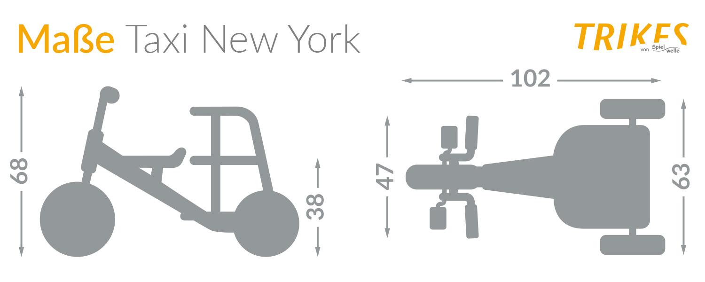 Maße Spielwelle Taxi New York