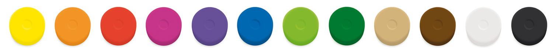 Die Wasserfarbenpucks gibt es in 12 leuchtenden Farben.